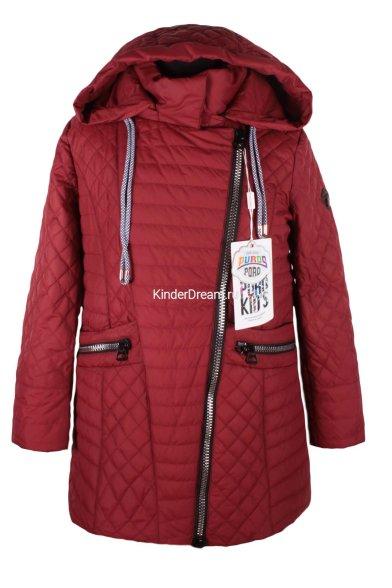 Удлинённая куртка PurosPoro 17-322 бордовый PurosPoro