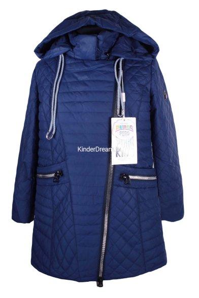 Удлинённая куртка PurosPoro 17-322 синий PurosPoro