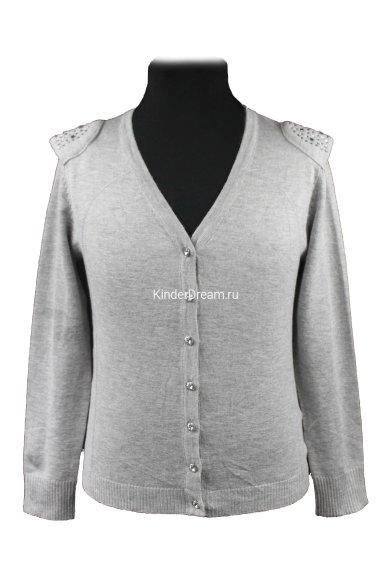 Джемпер с декоративными плечами Vitacci 2153296-02 серый Vitacci