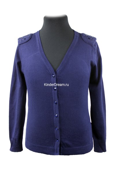 Джемпер с декоративными плечами Vitacci 2153296-04 синий Vitacci