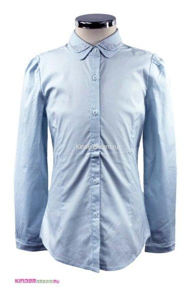 Блузка с двойным воротником Vitacci 2153005-10 голубой Vitacci
