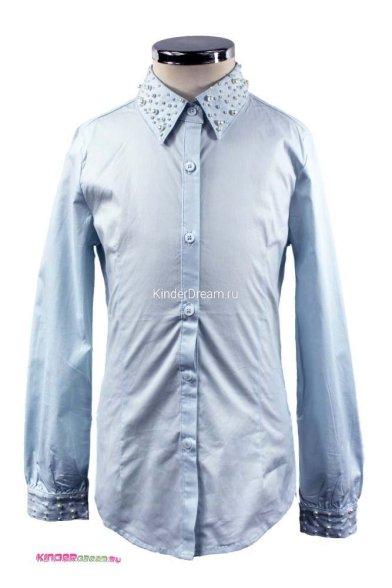 Блузка, украшенная бусинами Vitacci 2153002-10 бледно-голубой Vitacci