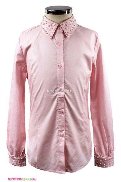 Блузка, украшенная бусинами Vitacci 2153002-11 розовый Vitacci