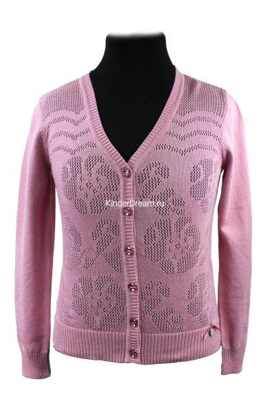 Ажурная кофта Deloras 60726 розовый Deloras