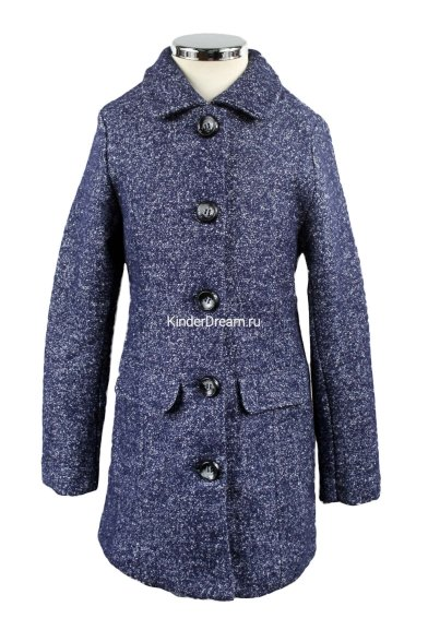 Шерстяное пальто Olimpia story 258317 серо-синий Olimpia story