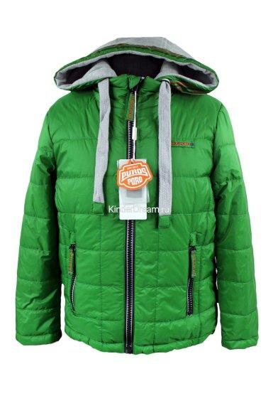 Яркая демисезонная куртка PurosPoro 15-702 зеленый PurosPoro