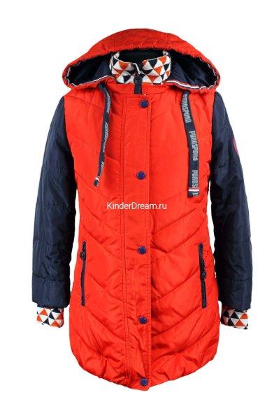 Комбинированное демисезонное пальто PurosPoro 15-350 PurosPoro
