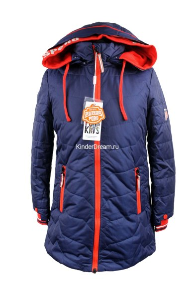 Демисезонное пальто PurosPoro 15-332 синий PurosPoro