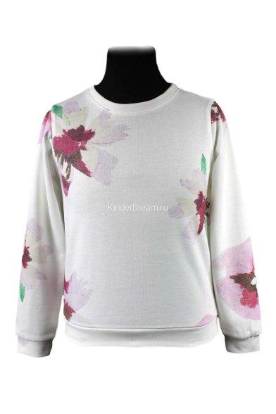 "Свитшот ""цветы"" Vitacci 2151282-01 белый Vitacci"