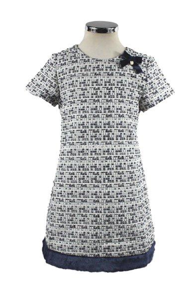 "Платье ""маленькая леди"" Vitacci 2151378-04 синий/белый Vitacci"