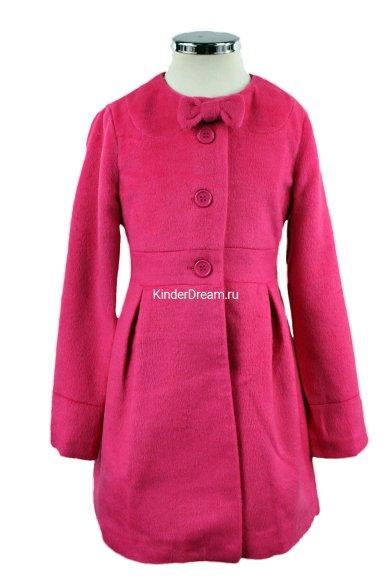 Кашемировое пальто Deloras 16825F малиновый Deloras