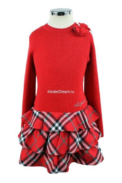 Комбинированное платье Olimpia story 15-1300 красный Olimpia story
