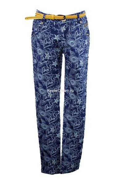 Принтованые джинсы с поясом Olimpia story 15-1045 синий Olimpia story