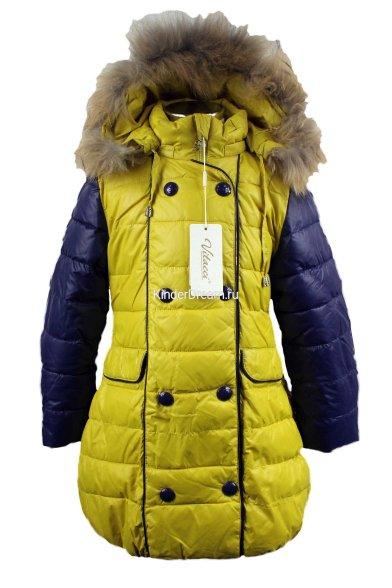 Зимнее стеганное пальто Vitacci 2151502-14 желтый Vitacci