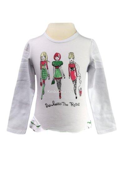 Трикотажная футболка с длинными рукавами Deloras 2650 белый Deloras