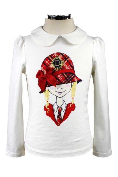 """Кофта """"Девочка в шляпе"""" Deloras 16701 белый Deloras"""
